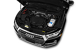 Car stock 2018 Audi Q5 Prestige 5 Door SUV engine high angle detail view