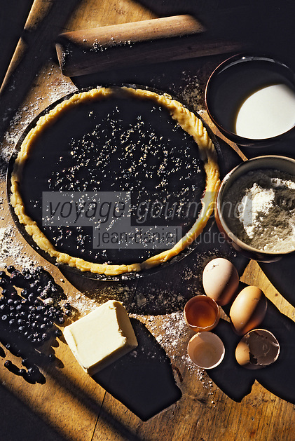 Europe/France/Auvergne/15/Cantal : Tarte aux myrtilles