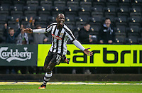Jonathan Forte of Notts Co turns to celebrate a goal but it is disallowed during the Sky Bet League 2 match between Notts County and Wycombe Wanderers at Meadow Lane, Nottingham, England on 10 December 2016. Photo by Andy Rowland.