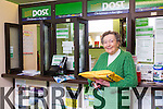 Bridie Mangan retires from Sneem Post Office. Post Office started in 1897 by John Mangan, Grandfather of Bridie Mangan, it was transferred to her father also John Mangan in 1926 and was then transferred to Bridie Mangan in 1976. Bridie has worked in the Post Office all her working life