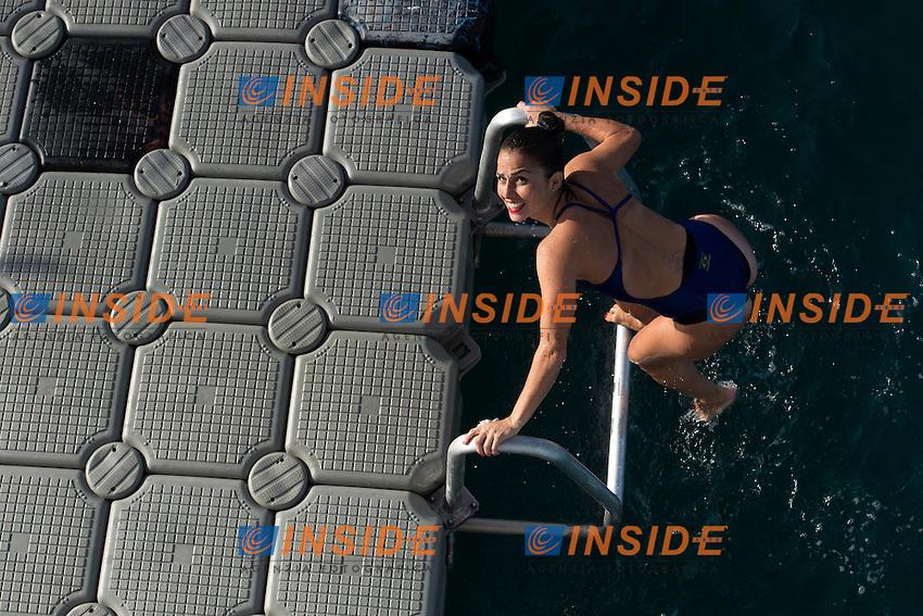 VALENTE Jacqueline BRA<br /> Women<br /> FINA High Diving World Cup 2016<br /> Abu Dhabi Sailing and Yacht Club <br /> Corniche Breakwater -Abu Dhabi - U.A.E.<br /> Day2  28 Feb.2016<br /> Photo Andrea Staccioli/Deepbluemedia/Insidefoto