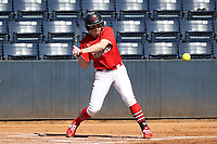 GREENSBORO, NC - FEBRUARY 22: Lacey Olaff #14 of Fairfield University swings at a pitch during a game between Fairfield and North Carolina at UNCG Softball Stadium on February 22, 2020 in Greensboro, North Carolina.