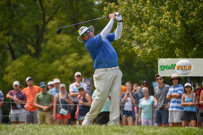 Ben Kern (USA) watches his tee shot on 12 during 4th round of the 100th PGA Championship at Bellerive Country Club, St. Louis, Missouri. 8/12/2018.<br /> Picture: Golffile | Ken Murray<br /> <br /> All photo usage must carry mandatory copyright credit (© Golffile | Ken Murray)