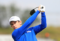 Ross Kellett (SCO) on the 1st tee during Round 1 of the Challenge de Madrid, a Challenge  Tour event in El Encin Golf Club, Madrid on Wednesday 22nd April 2015.<br /> Picture:  Thos Caffrey / www.golffile.ie