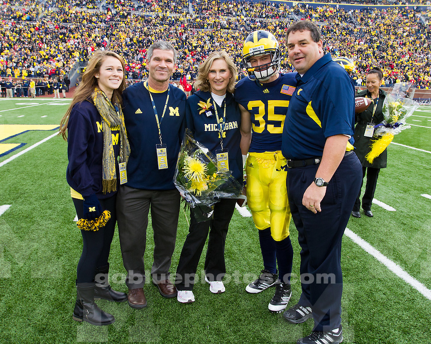 The University of Michigan football team beat Ohio State University, 40-34, at Michigan Stadium in Ann Arbor, Mich., on November 26, 2011.