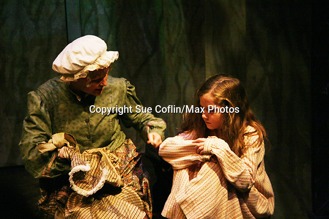 "Isabella Convertino (daughter of Liz Keifer) stars as ""Mary Lennox"" and Cat Guthrie """"Martha"" as Philipstown Depot Theatre presents The Secret Garden on November 7, 2009 in Garrison, New York. It runs Oct. 23 until Nov 15, 2009. The musical The Secret Garden is the story of ""Mary Lennox"", a rich spoiled child who finds herself suddenly an orphan when cholera wipes out the entire Indian village where she was living with her parents. She is sent to live in England with her only surviving relative, an uncle who has lived an unhappy life since the death of his wife 10 years ago. ""Archibald's son Colin"", has been ignored by his father who sees Colin only as the cause of his wife's death.This is essentially the story of three lost, unhappy souls who, together, learn how to live again while bringing Colin's mother's garden back to life. (Photo by Sue Coflin/Max Photos)...."