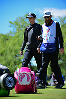 Michelle Wie (USA) is all smiles after sinking her birdie putt on 1 during round 4 of  the Volunteers of America Texas Shootout Presented by JTBC, at the Las Colinas Country Club in Irving, Texas, USA. 4/30/2017.<br /> Picture: Golffile | Ken Murray<br /> <br /> <br /> All photo usage must carry mandatory copyright credit (&copy; Golffile | Ken Murray)