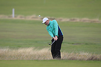 Robin Dawson from Ireland on the 10th during Round 3 Foursomes of the Men's Home Internationals 2018 at Conwy Golf Club, Conwy, Wales on Friday 14th September 2018.<br /> Picture: Thos Caffrey / Golffile<br /> <br /> All photo usage must carry mandatory copyright credit (&copy; Golffile | Thos Caffrey)