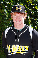 Outfielder Clint Frazier #19 of Loganville High School in Georgia poses for a photo before participating in the Under Armour All-American Game powered by Baseball Factory at Wrigley Field on August 18, 2012 in Chicago, Illinois.  (Mike Janes/Four Seam Images)