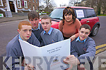 SHOCK SURVEY: Students from CBS The Green conducted a survey which led to some shocking results about boy racers. From l-r: Laurence Bastible, Niall Drumm, Ronan O'Sullivan, Peter Donaghue and their teacher Ellen McGillycuddy.