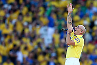 Singer Pitbull performs at the opening ceremony of the 2014 FIFA World Cup