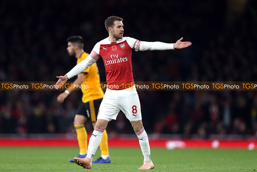 Aaron Ramsey of Arsenal during Arsenal vs Wolverhampton Wanderers, Premier League Football at the Emirates Stadium on 11th November 2018
