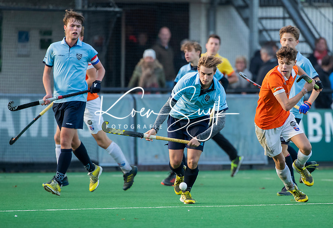 BLOEMENDAAL  -  David Huussen (Nijmegen) , competitiewedstrijd junioren  landelijk  Bloemendaal JA1-Nijmegen JA1 (2-2) . COPYRIGHT KOEN SUYK