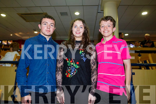 Enjoying  a night at the dog at the Kingdom Greyhound stadium on Friday to celebrate Michael Aherns 18th birthday were Michael O'Connor, Tara Fitzgerald, Michael Ahern