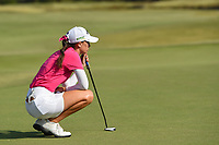 Cheyenne Knight (USA) lines up her par putt on 18 to seal the win during round 4 of the Volunteers of America Texas Classic, the Old American Golf Club, The Colony, Texas, USA. 10/6/2019.<br /> Picture: Golffile | Ken Murray<br /> <br /> <br /> All photo usage must carry mandatory copyright credit (© Golffile | Ken Murray)
