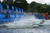 June 11th 2017, Leeds, Yorkshire, England; ITU World Triathlon Leeds 2017; The start of the mens race, swimming stage