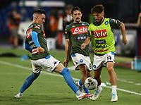 12th July 2020; Stadio San Paolo, Naples, Campania, Italy; Serie A Football, Napoli versus AC Milan;  Dries Mertens of napoli, Jose Maria Callejon of Napoli during the pre-game warm up