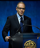 LAS VEGAS, NV - APRIL 24: Chairman of Warner Bros. Pictures Group Toby Emmerich onstage during the Warner Bros. Pictures presentation at CinemaCon 2018 at The Colosseum at Caesars Palace on April 24, 2018 in Las Vegas, Nevada. (Photo by Frank Micelotta/PictureGroup)