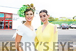 Grace Madden (Tralee) and Helen Murphy (Cork)  attending the Ladies Day at the Listowel Races on Sunday.