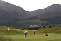 Áine Donegan (IRL) on the first green during Round 2 of the Women's Amateur Championship at Royal County Down Golf Club in Newcastle Co. Down on Wednesday 12th June 2019.<br /> Picture:  Thos Caffrey / www.golffile.ie