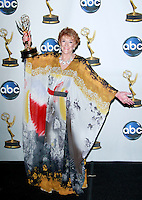"""Outstanding Lead Actress Jeanne Cooper from """"The Young and the Restless"""" poses with her award at the 35th Annual Daytime Emmy Awards held at the Kodak Theatre in Los Angeles on June 20, 2008."""
