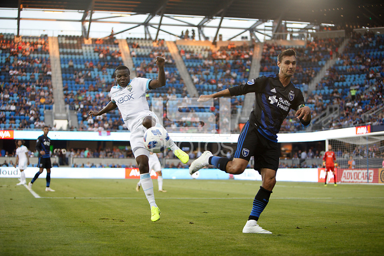 San Jose, CA - Wednesday July 25, 2018: Chris Wondolowski during a Major League Soccer (MLS) match between the San Jose Earthquakes and the Seattle Sounders FC at Avaya Stadium.