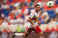 Fabian Espindola (9) of the New York Red Bulls. The New York Red Bulls defeated the Houston Dynamo 2-0 during a Major League Soccer (MLS) match at Red Bull Arena in Harrison, NJ, on June 30, 2013.
