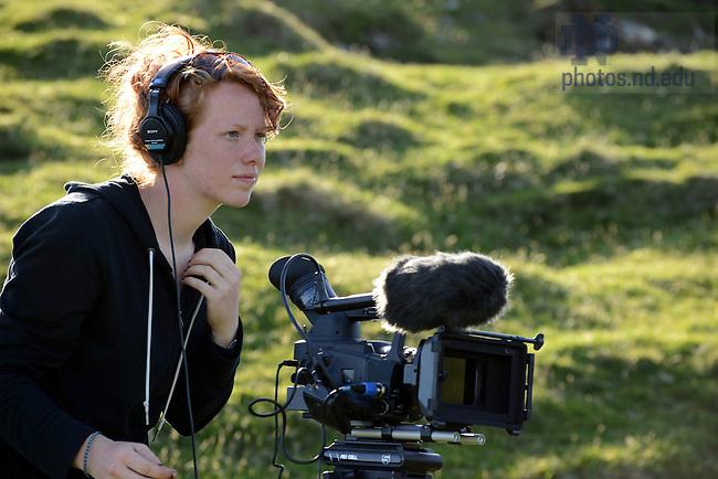 June 6, 2012; Kathleen Bracke '13 shoots a documentary film in Ireland, summer 2012...Photo by Matt Cashore/University of Notre Dame