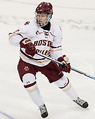 Jesper Mattila (BC - 8) - The visiting Merrimack College Warriors defeated the Boston College Eagles 6 - 3 (EN) on Friday, February 10, 2017, at Kelley Rink in Conte Forum in Chestnut Hill, Massachusetts.