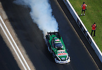 Apr. 28, 2012; Baytown, TX, USA: NHRA funny car driver John Force during qualifying for the Spring Nationals at Royal Purple Raceway. Mandatory Credit: Mark J. Rebilas-