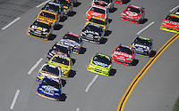 Nov. 1, 2009; Talladega, AL, USA; NASCAR Sprint Cup Series driver Kurt Busch (2) leads the field during the Amp Energy 500 at the Talladega Superspeedway. Mandatory Credit: Mark J. Rebilas-