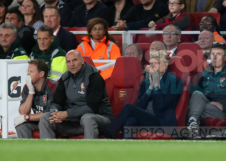 Arsenal's Arsene Wenger looks on dejected during the premier league match at the Emirates Stadium, London. Picture date 11th August 2017. Picture credit should read: David Klein/Sportimage