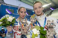 MALTSEV Aleksandr, VALITOVA Darina RUS Russia Silver Medal<br /> Kazan Arena Synchro Sincro Mixed Duet Technical Final<br /> Day03 26/07/2015<br /> XVI FINA World Championships Aquatics Swimming<br /> Kazan Tatarstan RUS July 24 - Aug. 9 2015 <br /> Photo G.Scala/Deepbluemedia/Insidefoto