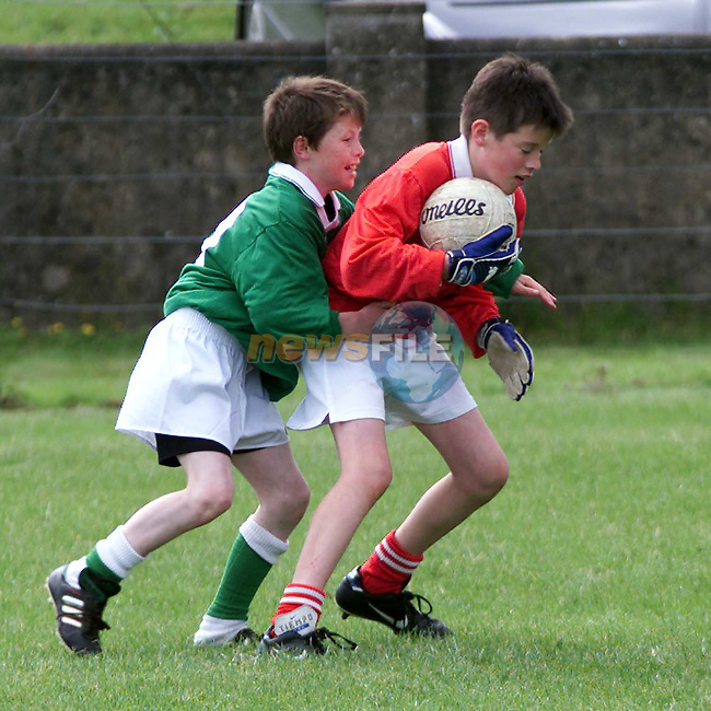 Action from the Hunterstown V O'Raghallaighs final in the Drogheda Independent Blitz..Picture Paul Mohan Newsfile