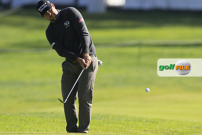 Ryan Moore (USA) chips onto the 2nd green during Thursday's Round 1 of the 2017 Genesis Open held at The Riviera Country Club, Los Angeles, California, USA. 16th February 2017.<br /> Picture: Eoin Clarke   Golffile<br /> <br /> <br /> All photos usage must carry mandatory copyright credit (&copy; Golffile   Eoin Clarke)