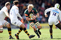 Luke Hamilton of Leicester Tigers in possession. Aviva Premiership match, between Leicester Tigers and Wasps on March 25, 2018 at Welford Road in Leicester, England. Photo by: Patrick Khachfe / JMP
