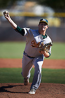 Oakland Athletics pitcher John Gorman (49) during an instructional league game against the Los Angeles Angels on October 9, 2015 at the Tempe Diablo Stadium Complex in Tempe, Arizona.  (Mike Janes/Four Seam Images)