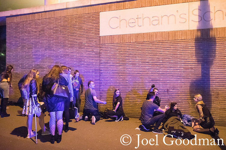 © Joel Goodman - 07973 332324 . 22/05/2017. Manchester, UK. Wounded people on Hunts Bank outside Victoria Station and the stairs leading to the Manchester Arena . Police and other emergency services are seen near the Manchester Arena after reports of an explosion. Police have confirmed they are responding to an incident during an Ariana Grande concert at the venue. Photo credit : Joel Goodman