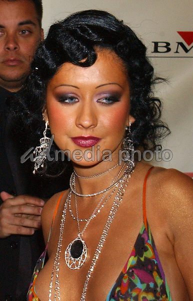 Feb. 8, 2004; Hollywood, CA, USA; Singer CHRISTINA AGUILERA during the BMG 46th Annual Grammy Awards Post-Grammy Gala Celebration held at The Avalon. Mandatory Credit: Photo by Laura Farr/AdMedia. (©) Copyright 2003 by Laura Farr