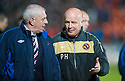 :: RANGERS MANAGER WALTER SMITH AND DUNDEE UTD MANAGER PETER HOUSTON AT THE END OF THE GAME :: .19/04/2011   Copyright  Pic : James Stewart.sct_jsp033_dundee_utd_v_rangers .James Stewart Photography 19 Carronlea Drive, Falkirk. FK2 8DN      Vat Reg No. 607 6932 25.Telephone      : +44 (0)1324 570291 .Mobile              : +44 (0)7721 416997.E-mail  :  jim@jspa.co.uk.If you require further information then contact Jim Stewart on any of the numbers above.........