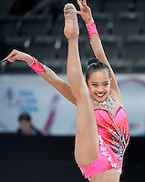 September 09, 2015 - Stuttgart, Germany - LAURA ZENG of USA performs during AA qualifications at 2015 World Championships.