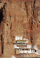 The white Horse Temple near Xining, Qinghai Province. Qinghai Province in western China borders Tibet and parts were the scenes of disturbance earlier this year, 2008..13 Nov 2008