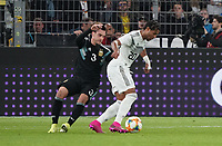 Serge Gnabry (Deutschland Germany) gegen Nicolas Tagliafico (Argentinien, Argentina) - 09.10.2019: Deutschland vs. Argentinien, Signal Iduna Park, Freunschaftsspiel<br /> DISCLAIMER: DFB regulations prohibit any use of photographs as image sequences and/or quasi-video.