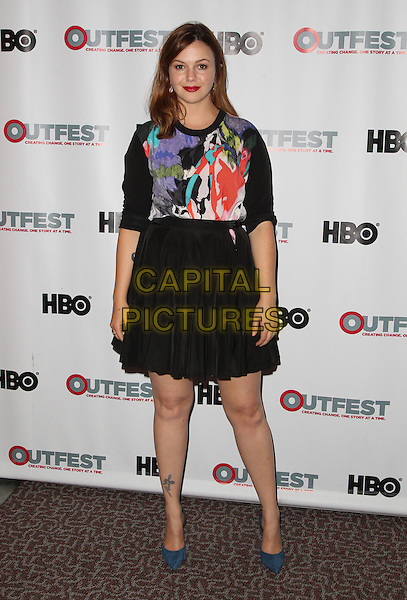 12 July 2014 - Los Angeles, California - Amber Tamblyn. 2014 Outfest Los Angeles screening of 'X/Y' Held at The DGA Theater.  <br /> CAP/ADM/FS<br /> &copy;Faye Sadou/AdMedia/Capital Pictures