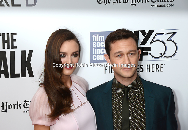 Charlotte Le Bon and costar actor Joseph Gordon-Levitt attends &quot;The Walk&quot; Movie Premiere &amp; Opening Night of the 2015  New York Film Festival at Alice Tully Hall in New York City, New York, USA.<br /> <br /> photo by Robin Platzer/Twin Images<br />  <br /> phone number 212-935-0770