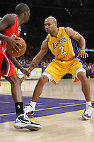 02/22/11 Los Angeles, CA: Los Angeles Lakers point guard Derek Fisher #2 during an NBA game between the Los Angeles Lakers and the Atlanta Hawks at the Staples Center. The Lakers defeated the Hawks 104-80.