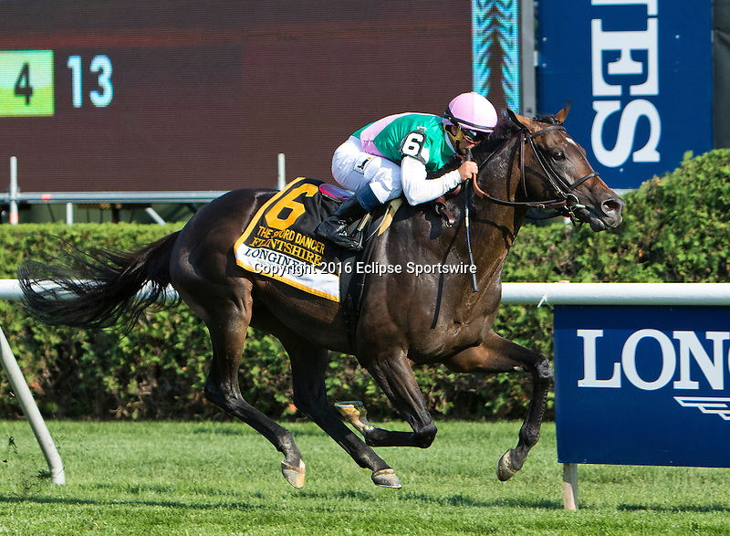 SARATOGA SPRINGS, NY - AUGUST 27: Flintshire #6, ridden Javier Castellano, wins the Sword Dancer Stakes on Travers Stakes Day at Saratoga Race Course on August 27, 2016 in Saratoga Springs, New York. (Photo by Sue Kawczynski/Eclipse Sportswire/Getty Images)