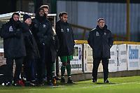 Haringey manager Tom Loizou (R) during Romford vs Haringey Borough, Bostik League Division 1 North Football at Ship Lane on 8th November 2017