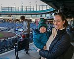 Jenny and one-year-old Samuel during the Reno Aces vs Nevada Wolf Pack baseball game at Greater Nevada Field in downtown Reno, Nevada on Tuesday, April 2, 2019.