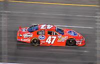 May 1, 2009; Richmond, VA, USA; NASCAR Nationwide Series driver Michael McDowell during the Lipton Tea 250 at the Richmond International Raceway. Mandatory Credit: Mark J. Rebilas-